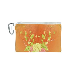 Beautiful Flowers In Soft Colors Canvas Cosmetic Bag (S)
