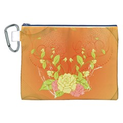 Beautiful Flowers In Soft Colors Canvas Cosmetic Bag (XXL)