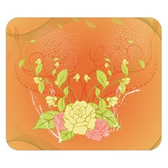 Beautiful Flowers In Soft Colors Double Sided Flano Blanket (Small)