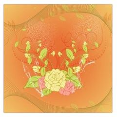 Beautiful Flowers In Soft Colors Large Satin Scarf (Square)