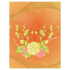 Beautiful Flowers In Soft Colors Drawstring Bag (Large)