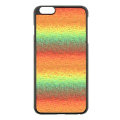 Gradient chaos Apple iPhone 6 Plus Black Enamel Case