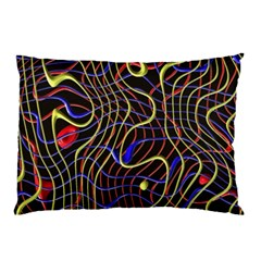 Ribbon Chaos 2 Black  Pillow Cases (Two Sides)