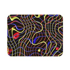 Ribbon Chaos 2 Black  Double Sided Flano Blanket (mini)