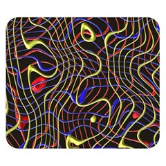 Ribbon Chaos 2 Black  Double Sided Flano Blanket (Small)