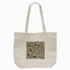 Ribbon Chaos 2  Tote Bag (Cream)
