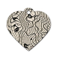 Ribbon Chaos 2  Dog Tag Heart (One Side)