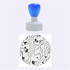 Ribbon Chaos 2  Rubber Round Stamps (Medium)