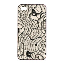 Ribbon Chaos 2  Apple iPhone 4/4s Seamless Case (Black)