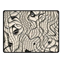 Ribbon Chaos 2  Double Sided Fleece Blanket (small)