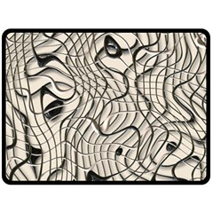 Ribbon Chaos 2  Double Sided Fleece Blanket (Large)