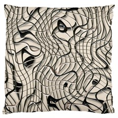 Ribbon Chaos 2  Large Flano Cushion Cases (One Side)