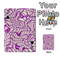 Ribbon Chaos 2 Lilac Playing Cards 54 Designs