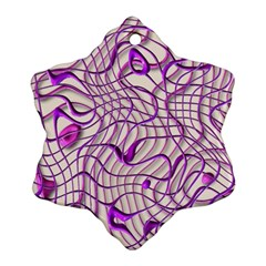 Ribbon Chaos 2 Lilac Ornament (Snowflake)