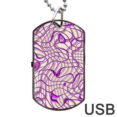 Ribbon Chaos 2 Lilac Dog Tag USB Flash (One Side)