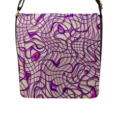 Ribbon Chaos 2 Lilac Flap Messenger Bag (L)