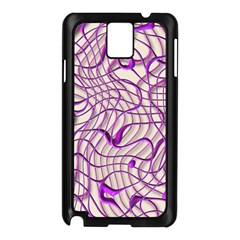 Ribbon Chaos 2 Lilac Samsung Galaxy Note 3 N9005 Case (Black)