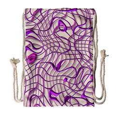 Ribbon Chaos 2 Lilac Drawstring Bag (Large)