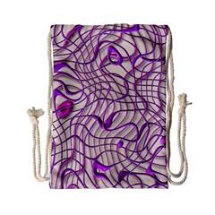 Ribbon Chaos 2 Lilac Drawstring Bag (Small)