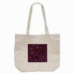 Ribbon Chaos 2 Pink Tote Bag (Cream)