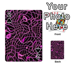 Ribbon Chaos 2 Pink Playing Cards 54 Designs