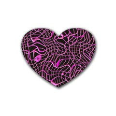 Ribbon Chaos 2 Pink Heart Coaster (4 Pack)