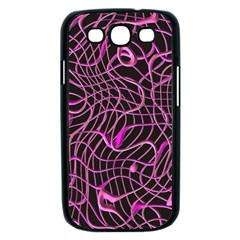 Ribbon Chaos 2 Pink Samsung Galaxy S III Case (Black)