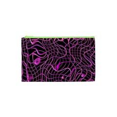 Ribbon Chaos 2 Pink Cosmetic Bag (xs)