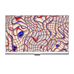 Ribbon Chaos 2 Red Blue Business Card Holders
