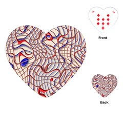 Ribbon Chaos 2 Red Blue Playing Cards (heart)