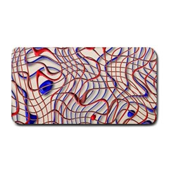 Ribbon Chaos 2 Red Blue Medium Bar Mats