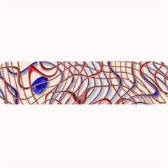 Ribbon Chaos 2 Red Blue Large Bar Mats