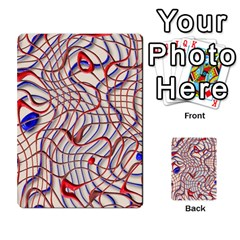 Ribbon Chaos 2 Red Blue Multi-purpose Cards (Rectangle)