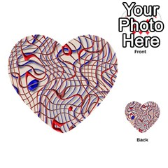 Ribbon Chaos 2 Red Blue Multi-purpose Cards (Heart)