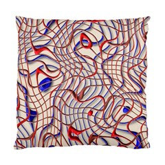 Ribbon Chaos 2 Red Blue Standard Cushion Case (one Side)