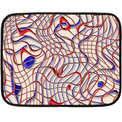 Ribbon Chaos 2 Red Blue Fleece Blanket (mini)