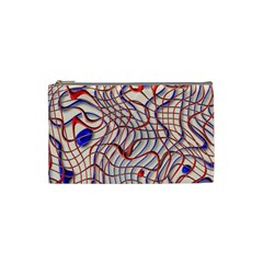 Ribbon Chaos 2 Red Blue Cosmetic Bag (Small)