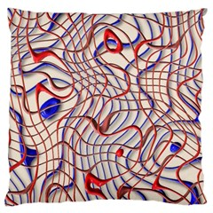 Ribbon Chaos 2 Red Blue Large Cushion Cases (one Side)