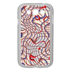 Ribbon Chaos 2 Red Blue Samsung Galaxy Grand DUOS I9082 Case (White)