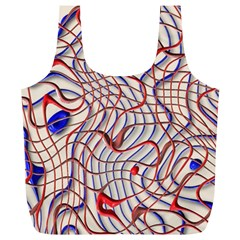 Ribbon Chaos 2 Red Blue Full Print Recycle Bags (l)