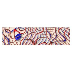 Ribbon Chaos 2 Red Blue Satin Scarf (oblong)