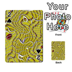 Ribbon Chaos 2 Yellow Playing Cards 54 Designs
