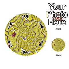 Ribbon Chaos 2 Yellow Playing Cards 54 (Round)
