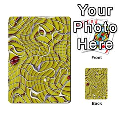 Ribbon Chaos 2 Yellow Multi-purpose Cards (Rectangle)