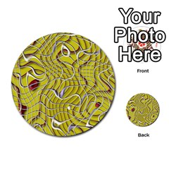 Ribbon Chaos 2 Yellow Multi Purpose Cards (round)