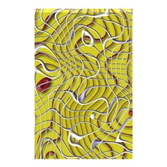 Ribbon Chaos 2 Yellow Shower Curtain 48  x 72  (Small)