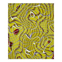 Ribbon Chaos 2 Yellow Shower Curtain 60  x 72  (Medium)