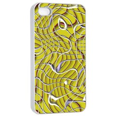Ribbon Chaos 2 Yellow Apple iPhone 4/4s Seamless Case (White)