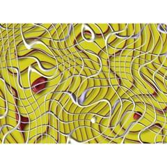 Ribbon Chaos 2 Yellow Birthday Cake 3D Greeting Card (7x5)