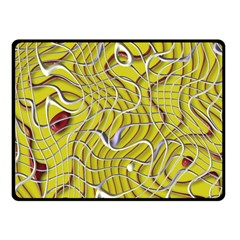 Ribbon Chaos 2 Yellow Double Sided Fleece Blanket (small)